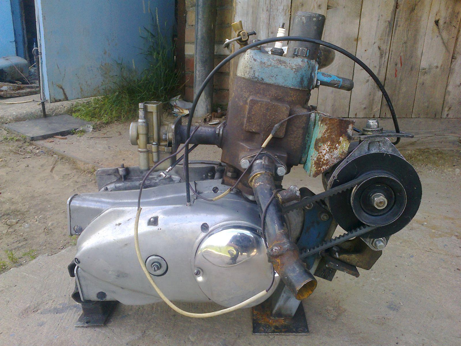Мини трактор с двигателем от ИЖ Планета - Самодельный мини