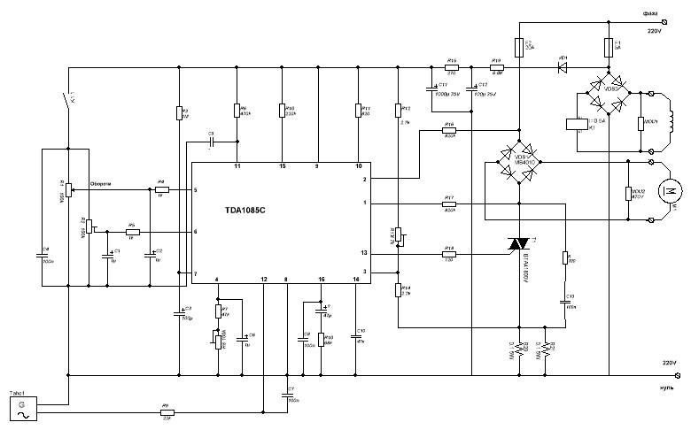 Tda1085 схема включения электродвигателя mei