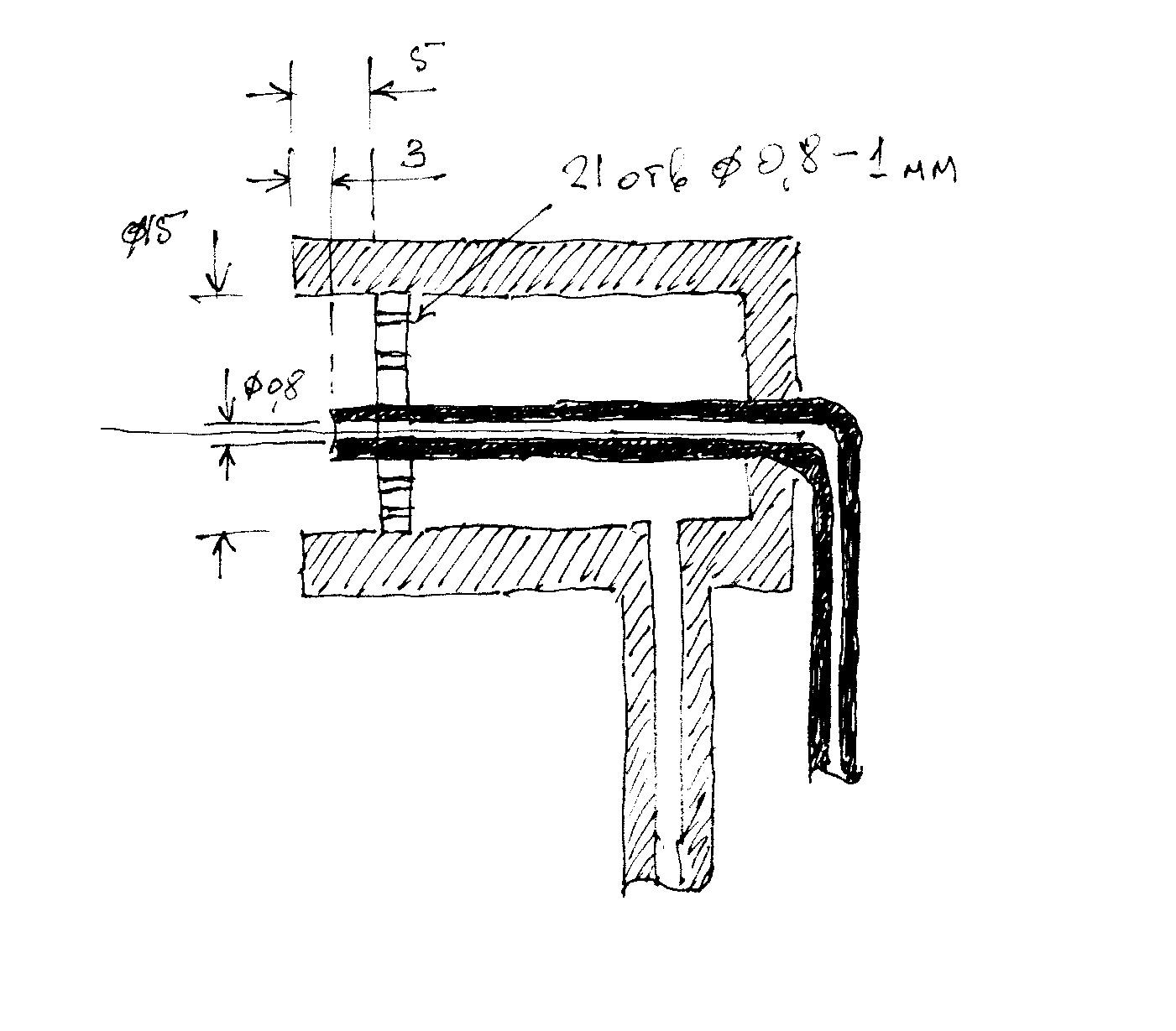 чертеж схема пробкового крана с размерами