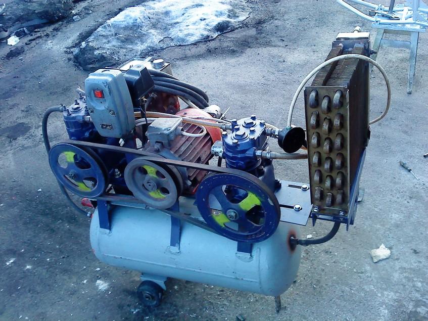 Самодельный компрессор из двигателя зил