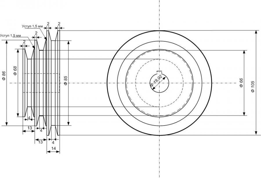 Как сделать шкив для электродвигателя 183