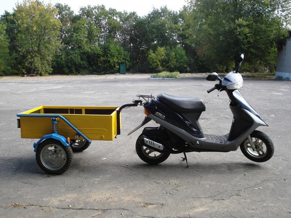 Как сделать прицеп на скутер на скутере