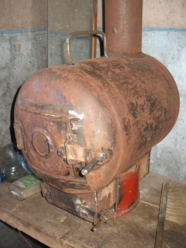 Печка буржуйка из газового баллона своими руками