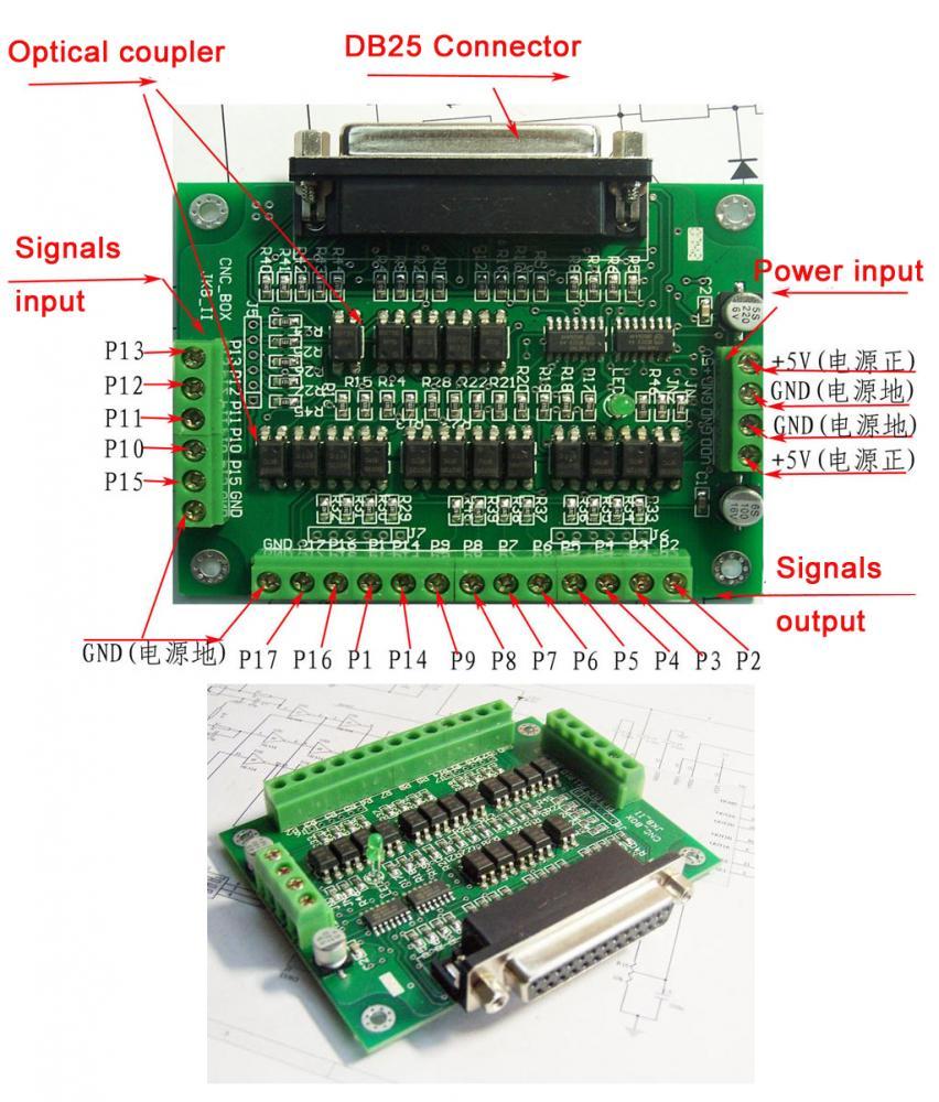 схема подключения платы чпу cncportv1