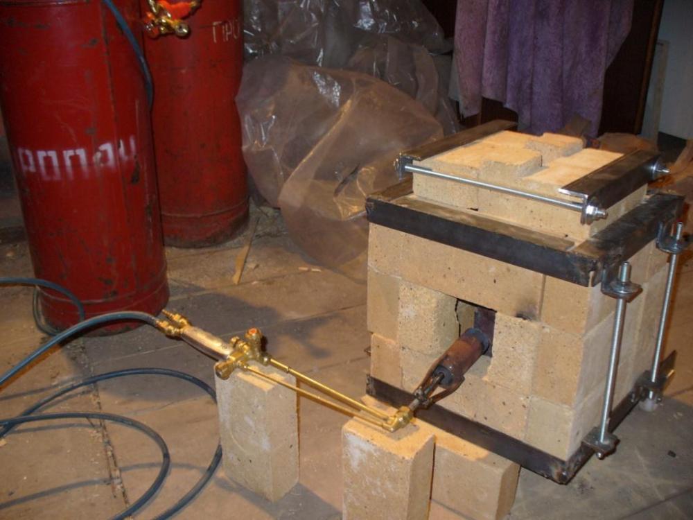 Печь для плавки алюминия на газу своими руками