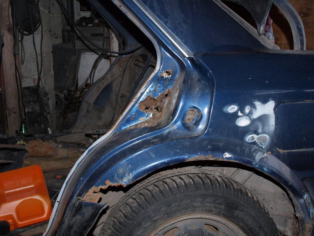 Ремонт ржавчины кузова автомобиля своими руками 26