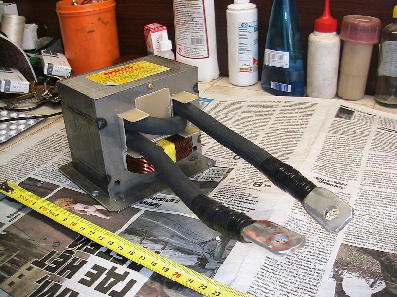 Сварочный аппарат точечной сварки своими руками из микроволновки 49