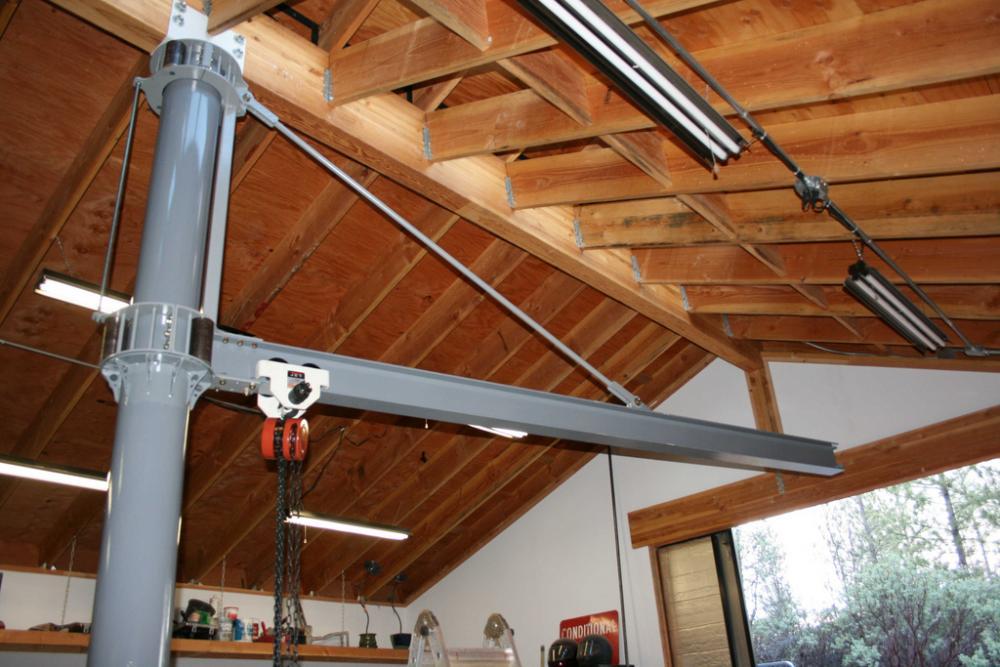 Консольный кран для гаража