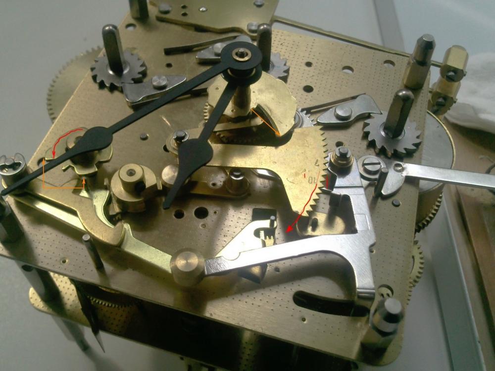 Ремонт своими руками настенных часов янтарь с боем 788
