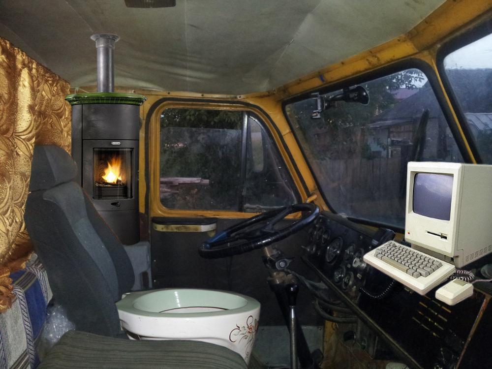 Обустройство кабины грузовика своими руками