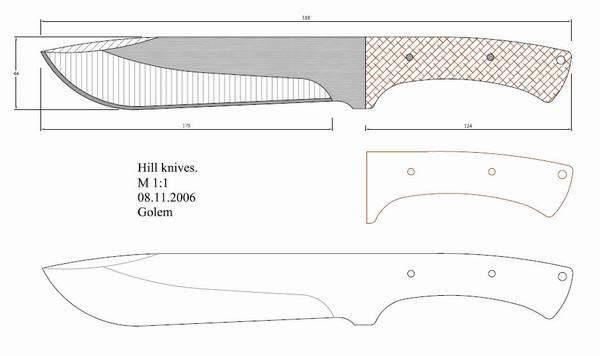 Как сделать нож чертежи и размеры