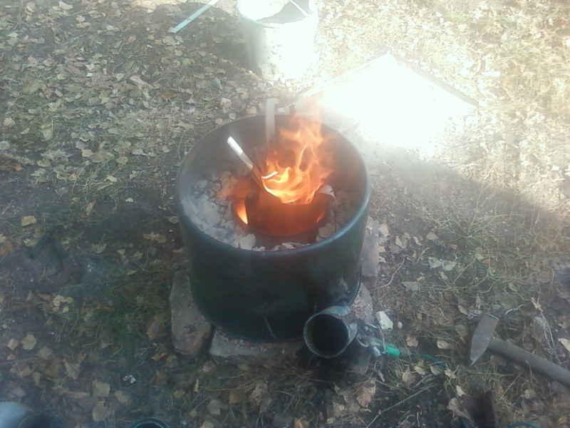 Печь для плавки алюминия на угле