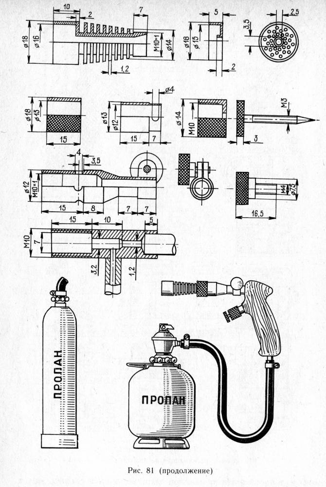 Бензиновая горелка для пайки своими руками схема