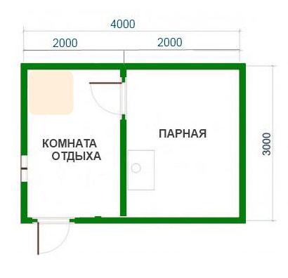 Баня 4 на 3 из бруса своими руками - Mmrr.ru