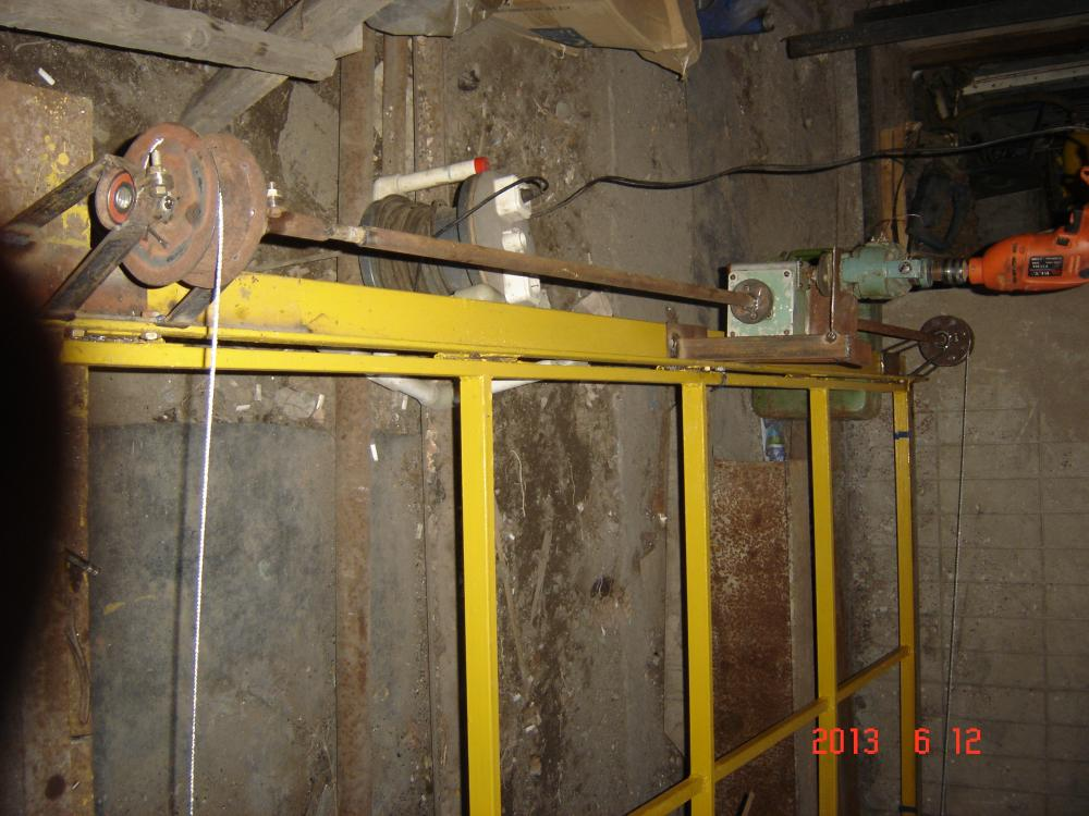 Самодельный электропривод для подъемных ворот 194