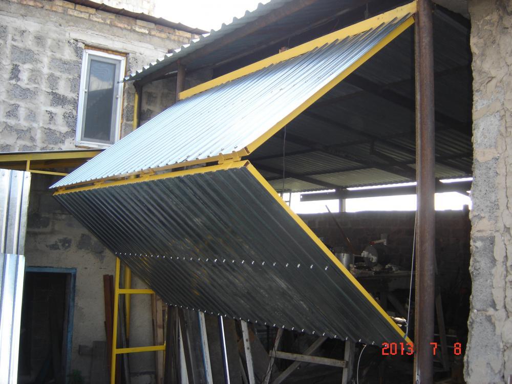 Подъёмно-складные ворота для гаража своими руками
