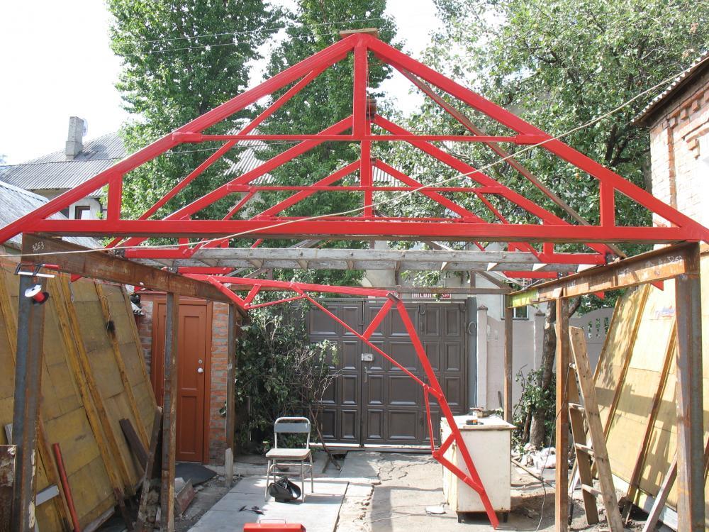Металлическая крыша гаража своими руками 267