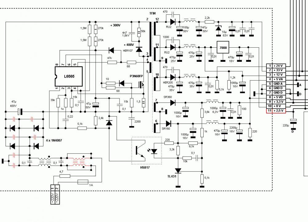 Dc1302hd принципиальная схема