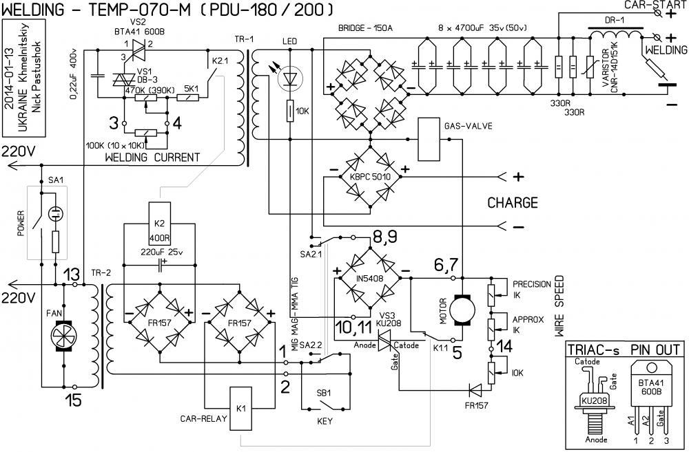 Электросхема сварочного полуавтомата своими руками 54