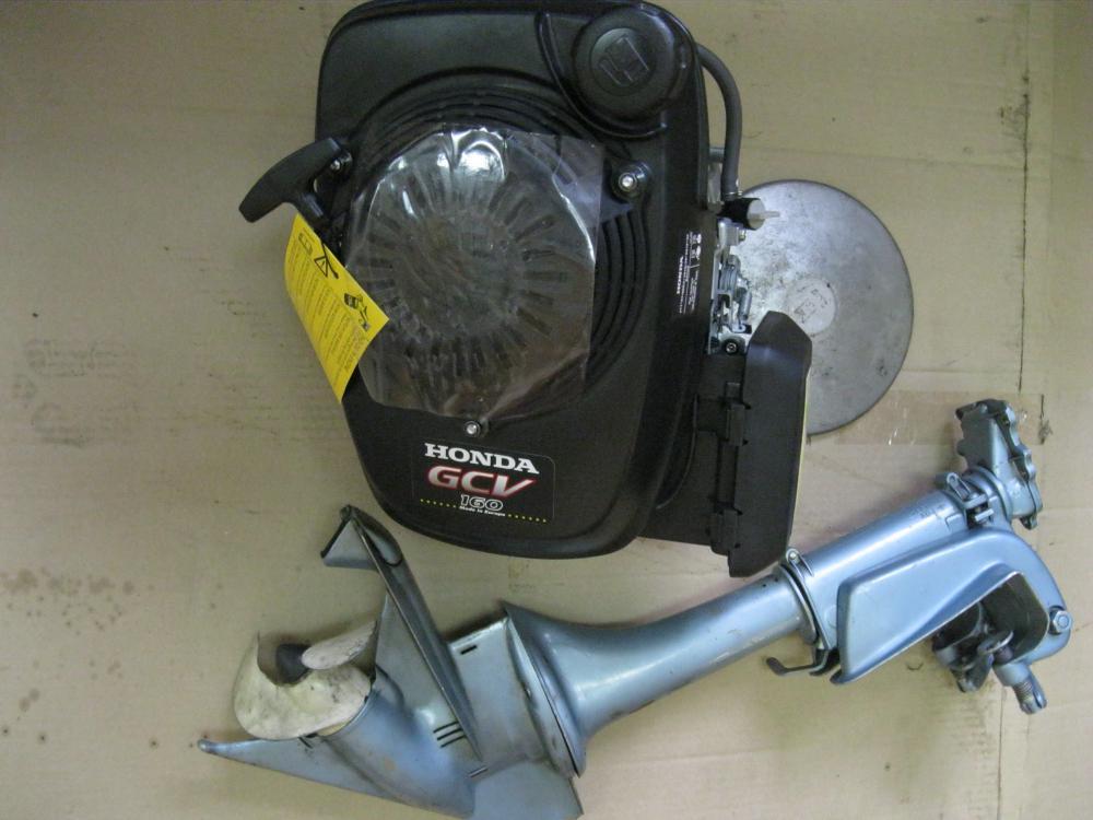 Лодочный мотор гибрид своими руками