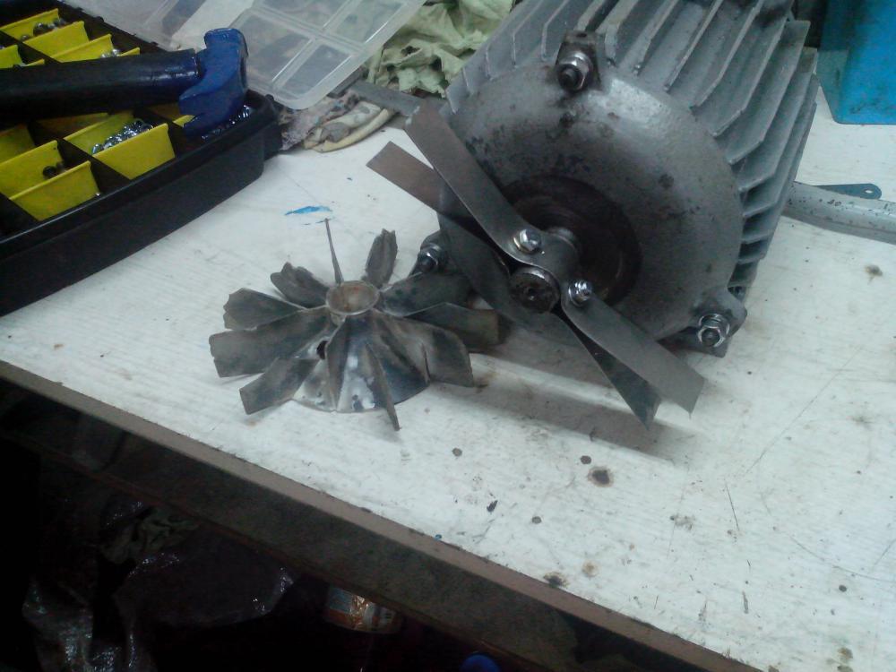 Вентилятор на электродвигатель своими руками