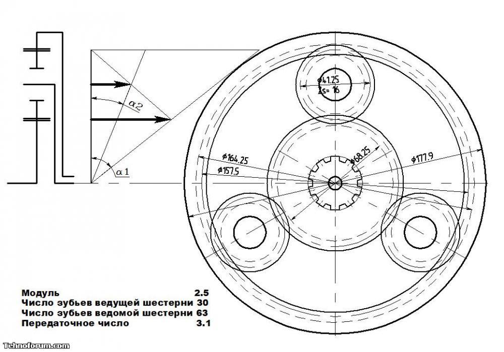 Колесные редуктора на ниву чертежи