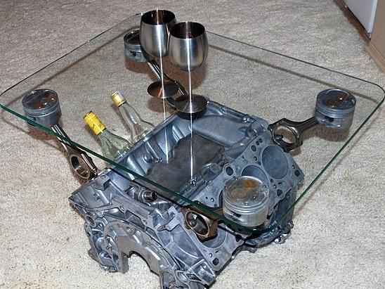 Стол из двигателя своими руками как сделать