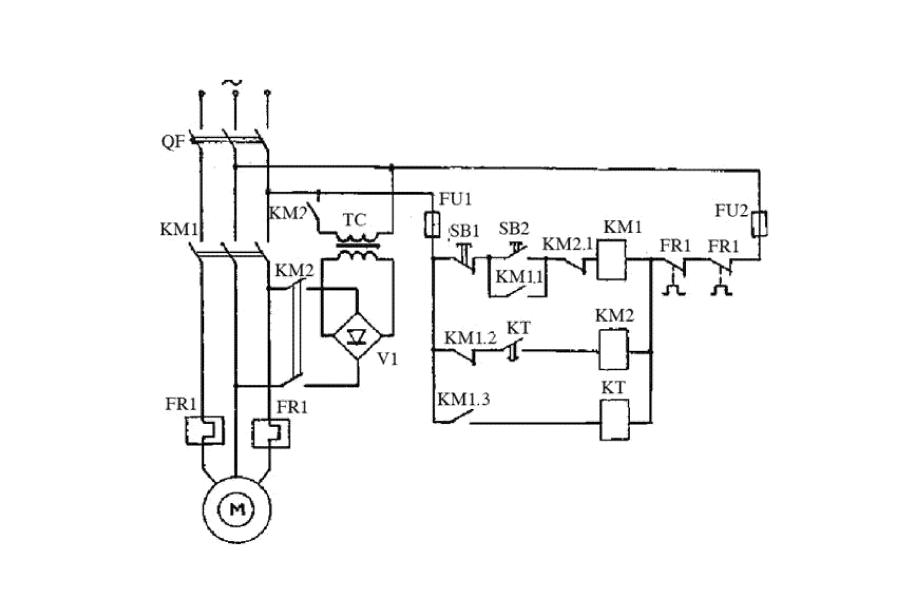 Схема электронного тормоза электродвигателя