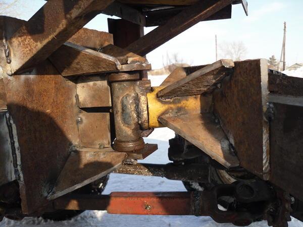 Как сделать ломаную раму на самодельный трактор