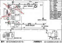 ремонт китайского генератора hhfq-2500cx: Схема генератора с AVR.JPG