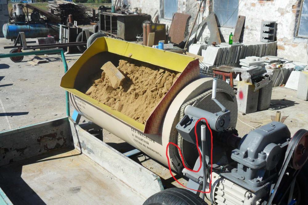 Горизонтальный принудительный бетоносмеситель своими руками