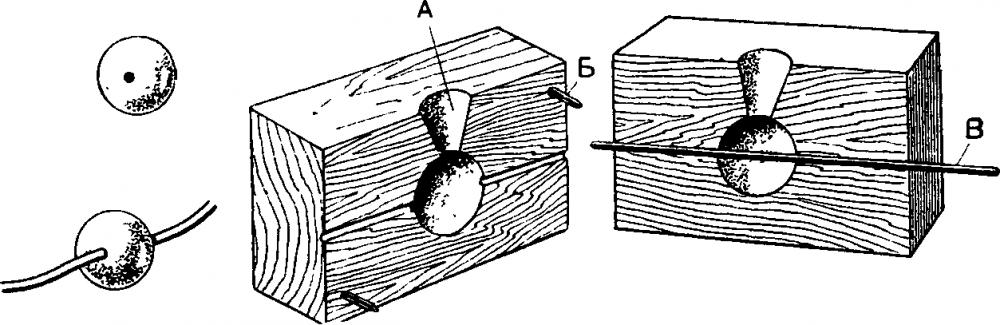 Формы для грузил из дерева