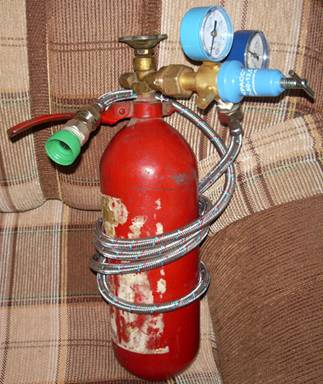 Сифон из огнетушителя своими руками