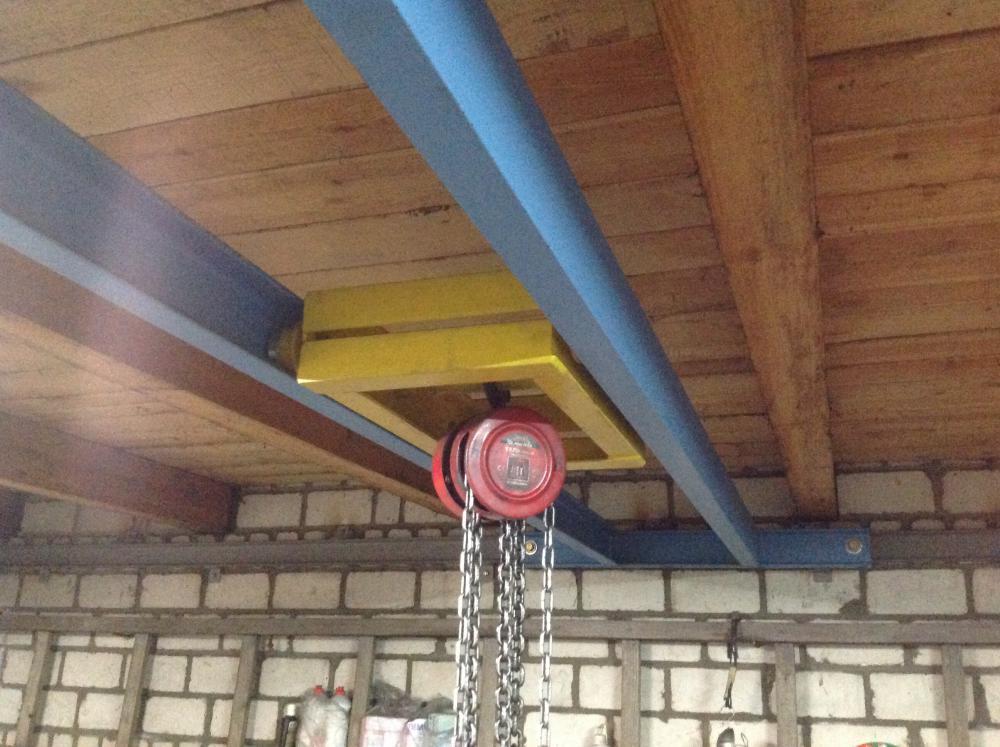 Кран балка в гараже 168
