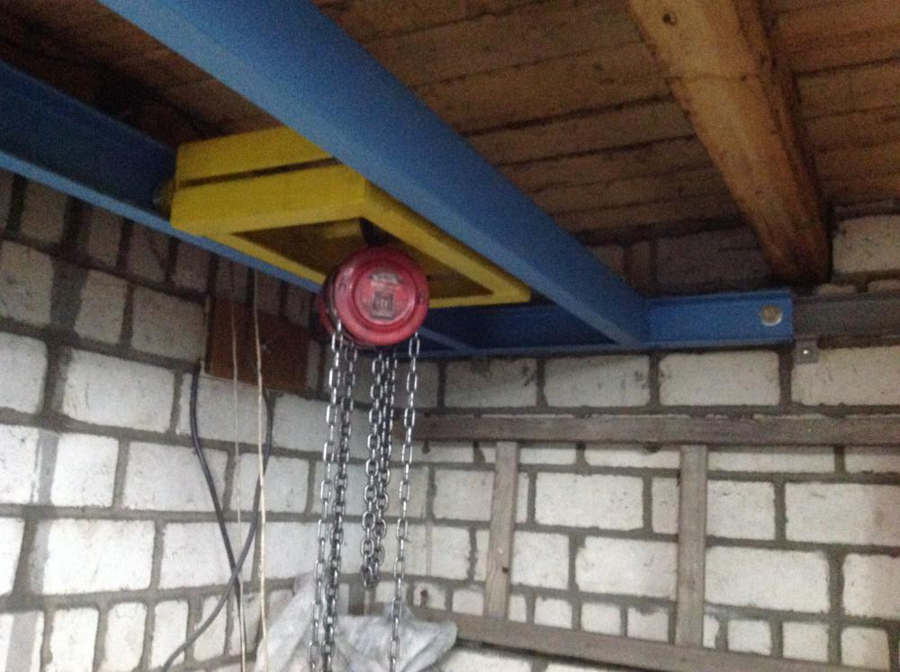 Кран балка в гараже 15